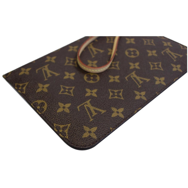 Louis Vuitton Pochette Wristlet Neverfull MM Pouch - right view