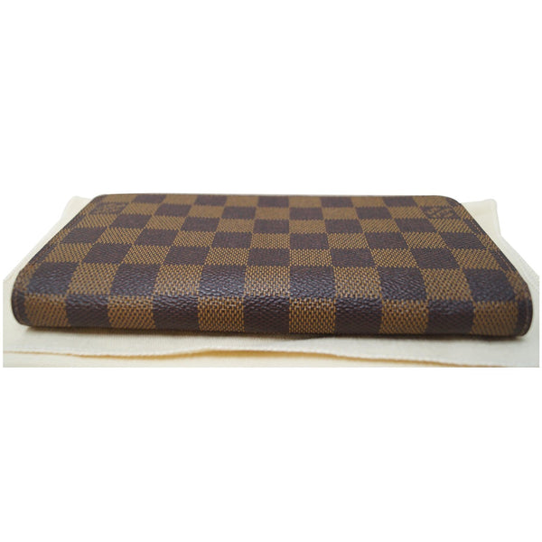 LOUIS VUITTON Zip Around Damier Ebene Wallet Brown