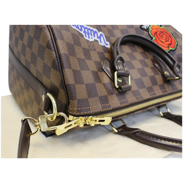 Louis Vuitton Speedy 30 Patches Damier Ebene Bag Zipper