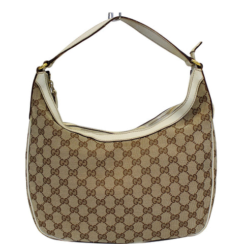 cef207d4c448 GUCCI Charmy GG Canvas Hobo Bag Beige 153010