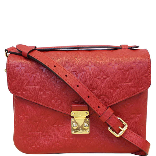 LOUIS VUITTON Metis Pochette Empreinte Leather Crossbody Bag Red