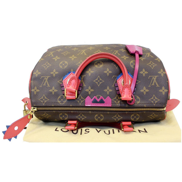 lv Totem Speedy 30 Monogram Canvas bag straps