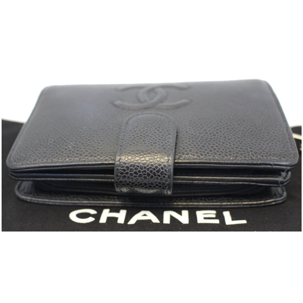 CHANEL CC Caviar Leather Bifold Wallet Black-US