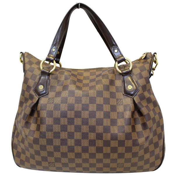 Louis Vuitton Damier Ebene Evora MM Tote Shoulder Bag - leather