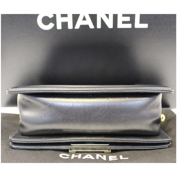 Chanel Le Boy Small Lambskin Leather Shoulder Bag - bottom
