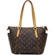 LOUIS VUITTON Totally PM Monogram Canvas Shoulder Tote Bag Brown