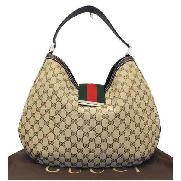 GUCCI New Ladies Web GG Canvas Large Hobo Bag Beige 233604-US