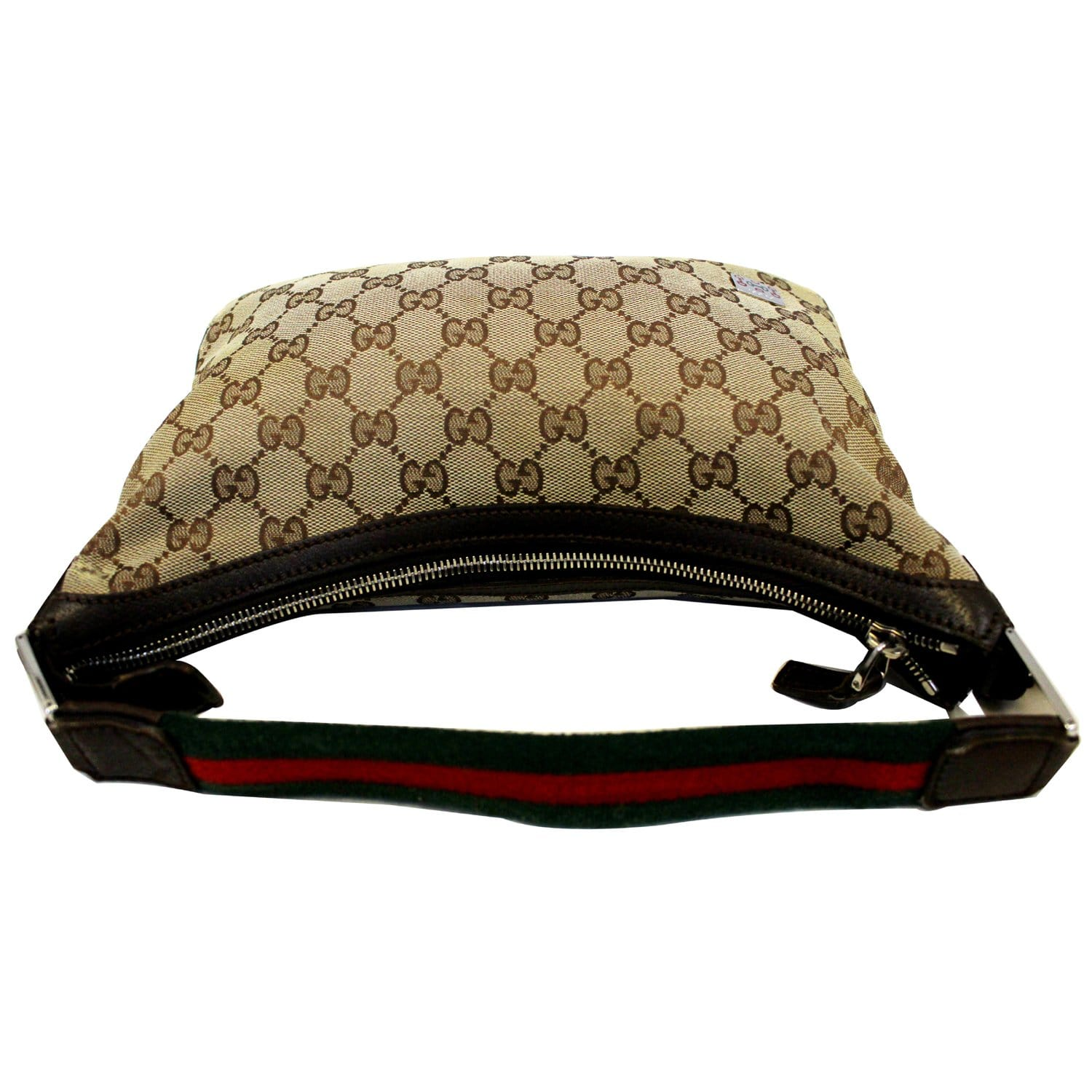 5bfae96150c3dd GUCCI GG Canvas Horsebit Hobo Bag Beige