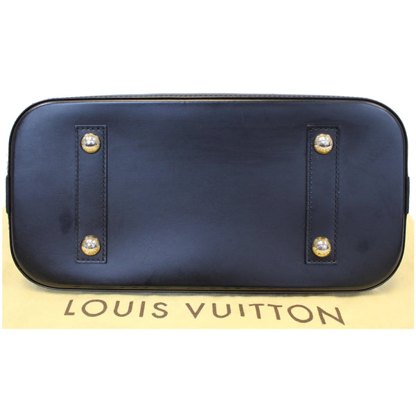Louis Vuitton Alma Epi Leather Satchel Bag Black- Bottom