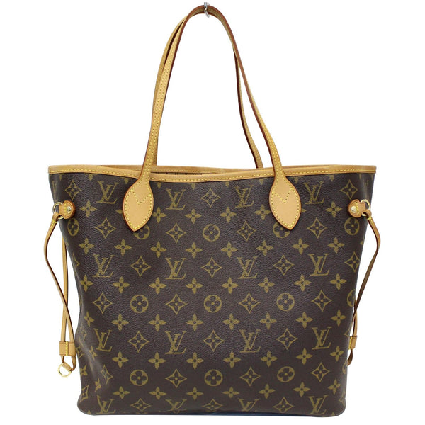 Louis Vuitton Neverfull MM Canvas Tote Shoulder Bag - lv strap