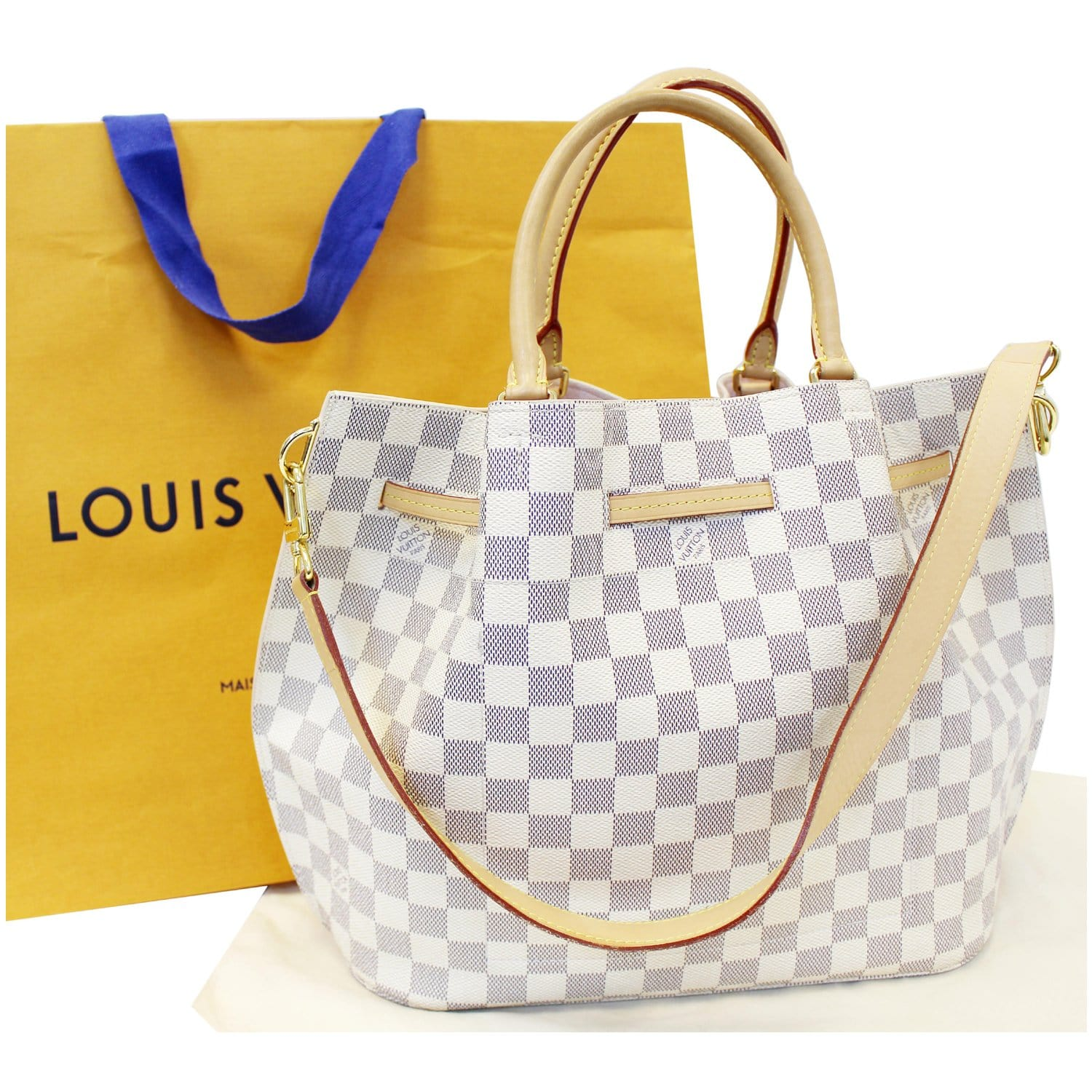 b3f0ae26eaab LOUIS VUITTON Girolata Damier Azur Shoulder Bag-US