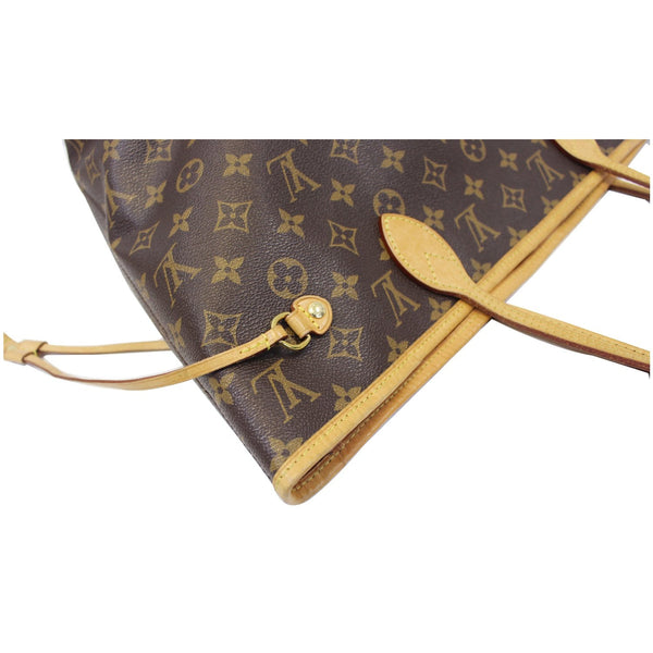 Louis Vuitton Neverfull MM - Lv Monogram Canvas Tote Bag - side view