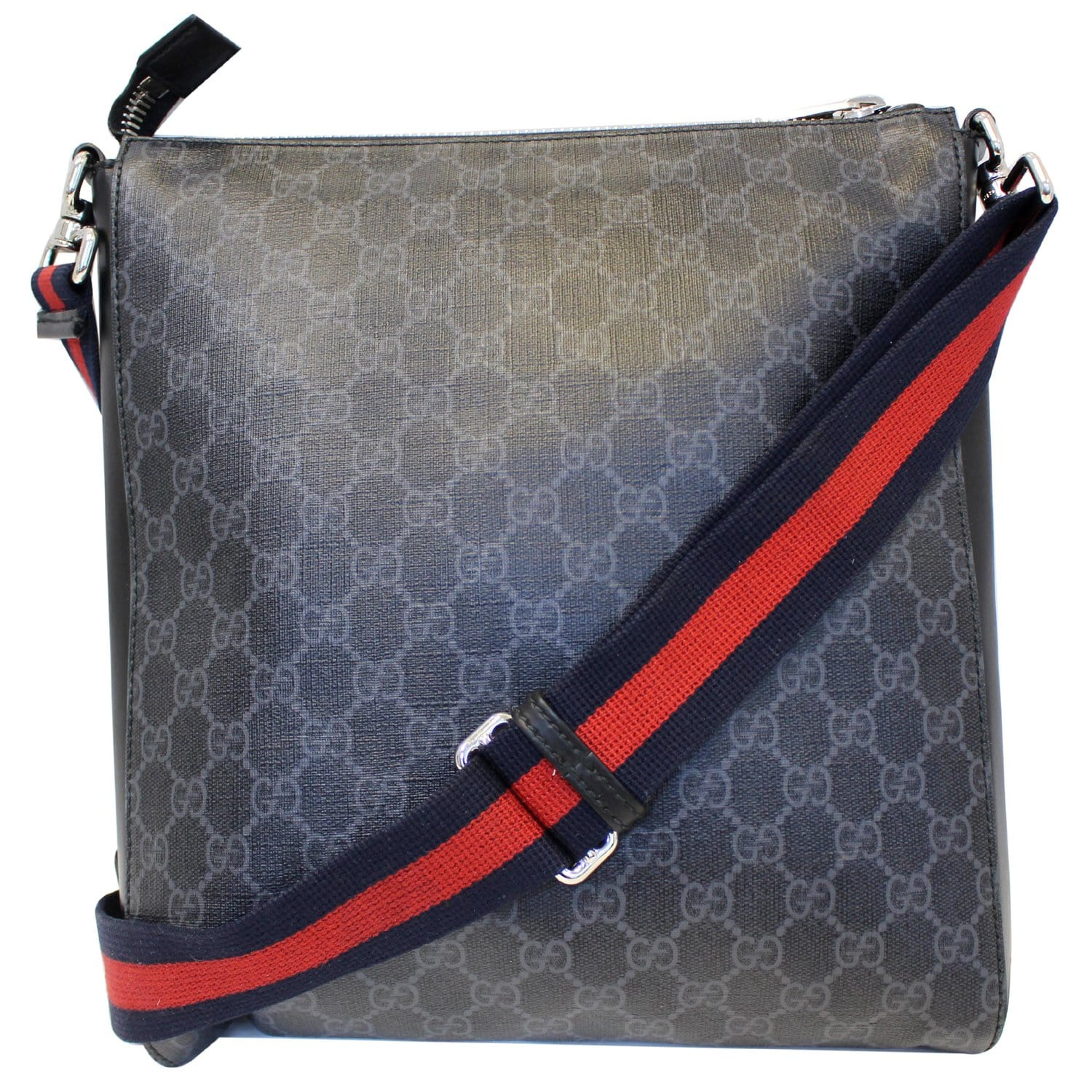fe494ba61efa GUCCI Night Courrier GG Supreme Messenger Crossbody Bag Black/Grey-US