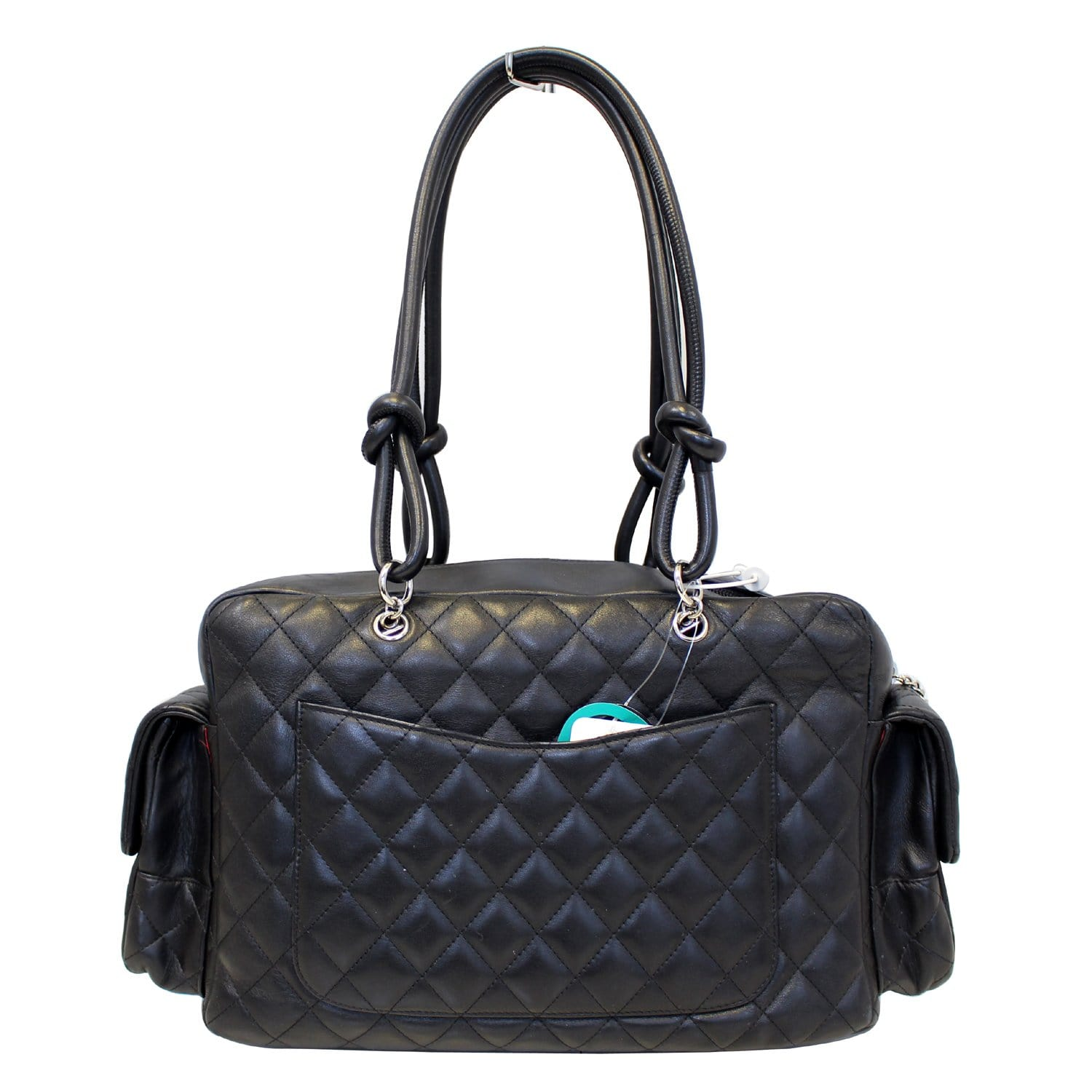 c2225a09e98d CHANEL Black Quilted Leather Ligne Cambon Reporter Shoulder Bag-US ...