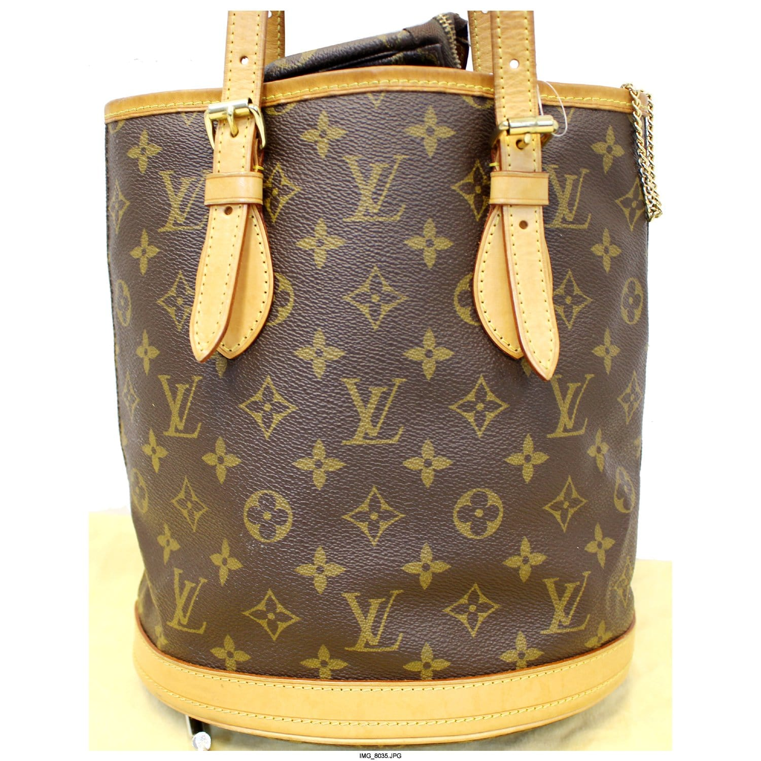 3d27a005804a LOUIS VUITTON Bucket PM Monogram Canvas Shoulder Bag-US