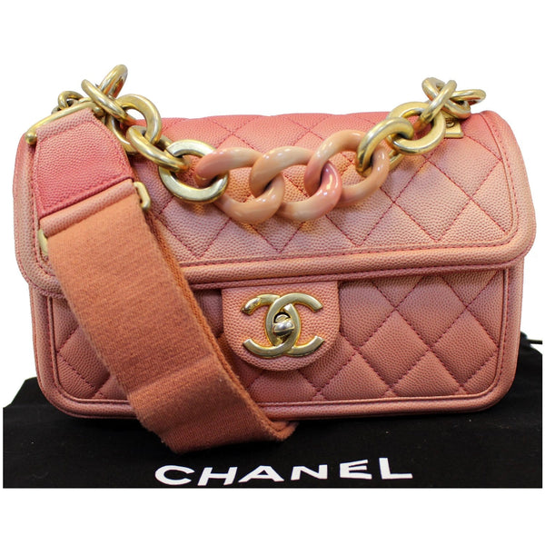 Chanel Sunset On The Sea Caviar Leather Small Flap full view
