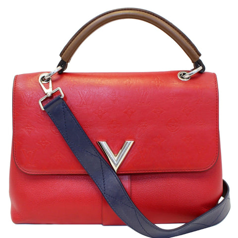 LOUIS VUITTON Very One Handle Monogram Leather Shoulder Bag Rubis