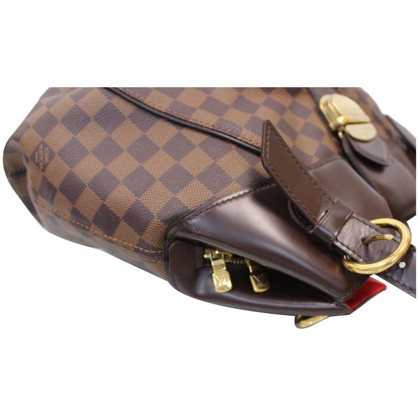 Louis Vuitton Sistina GM Damier Ebene Shoulder Satchel