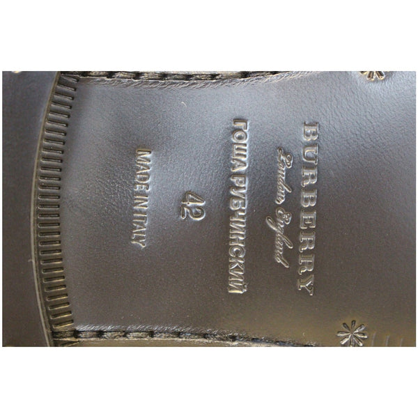 Burberry Check Leather Loafers - logo