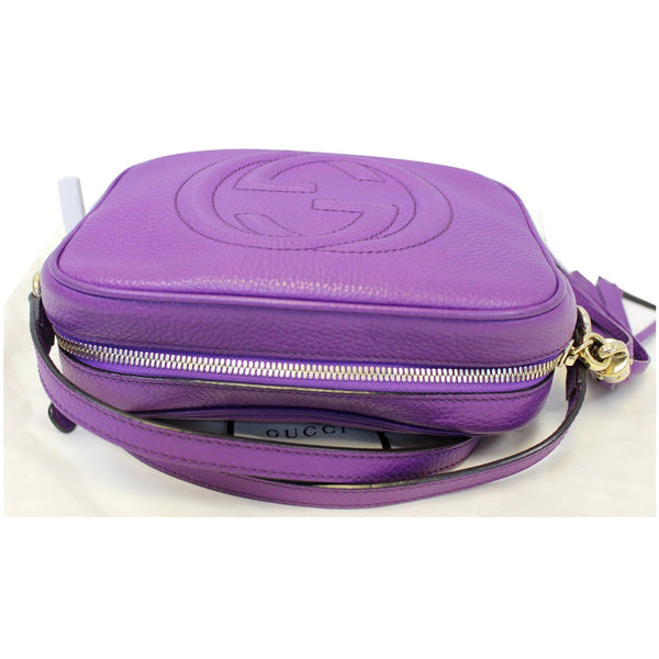 Gucci Crossbody Bag Soho Disco Pebbled Leather purple