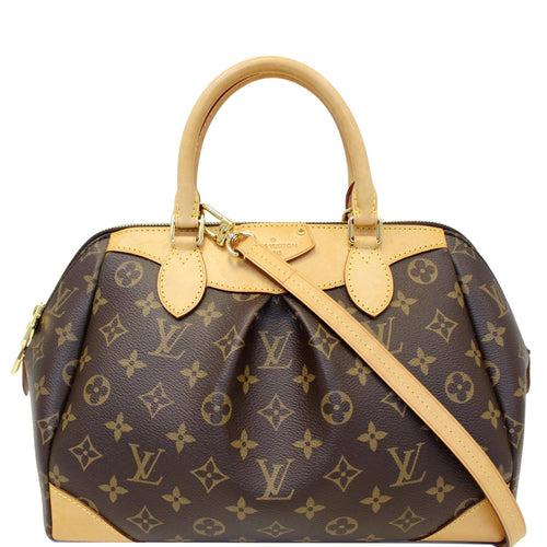 LOUIS VUITTON Segur Monogram Canvas Shoulder Handbag Brown