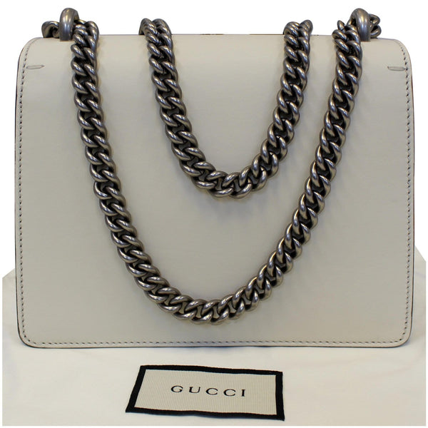 Gucci Dionysus Mini Crystal Embroidered Snake Bag - silver chain