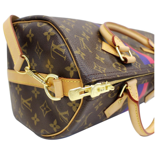 LV Speedy 30 Mon Bandouliere Canvas Bag - Corner left view