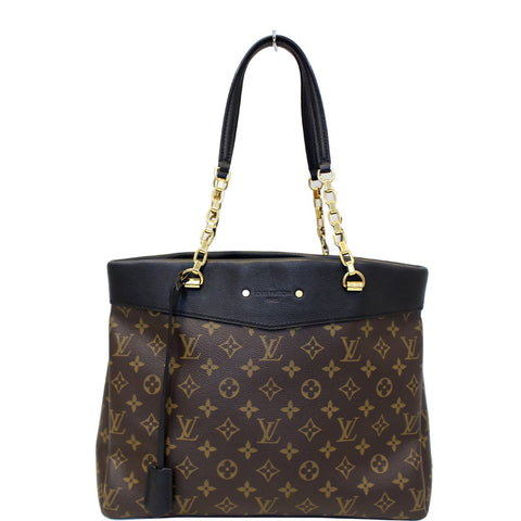 LOUIS VUITTON Pallas Chain Shopper Bag Monogram Canvas Brown