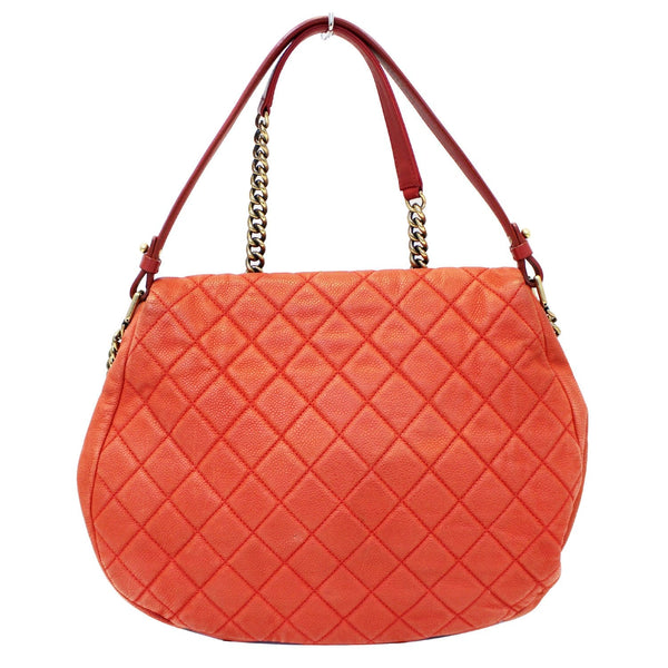 Chanel Flap Red Soft Caviar Shoulder Crossbody Bag - strap