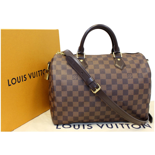 LOUIS VUITTON Speedy 30 Bandouliere Damier Ebene Shoulder Bag Brown