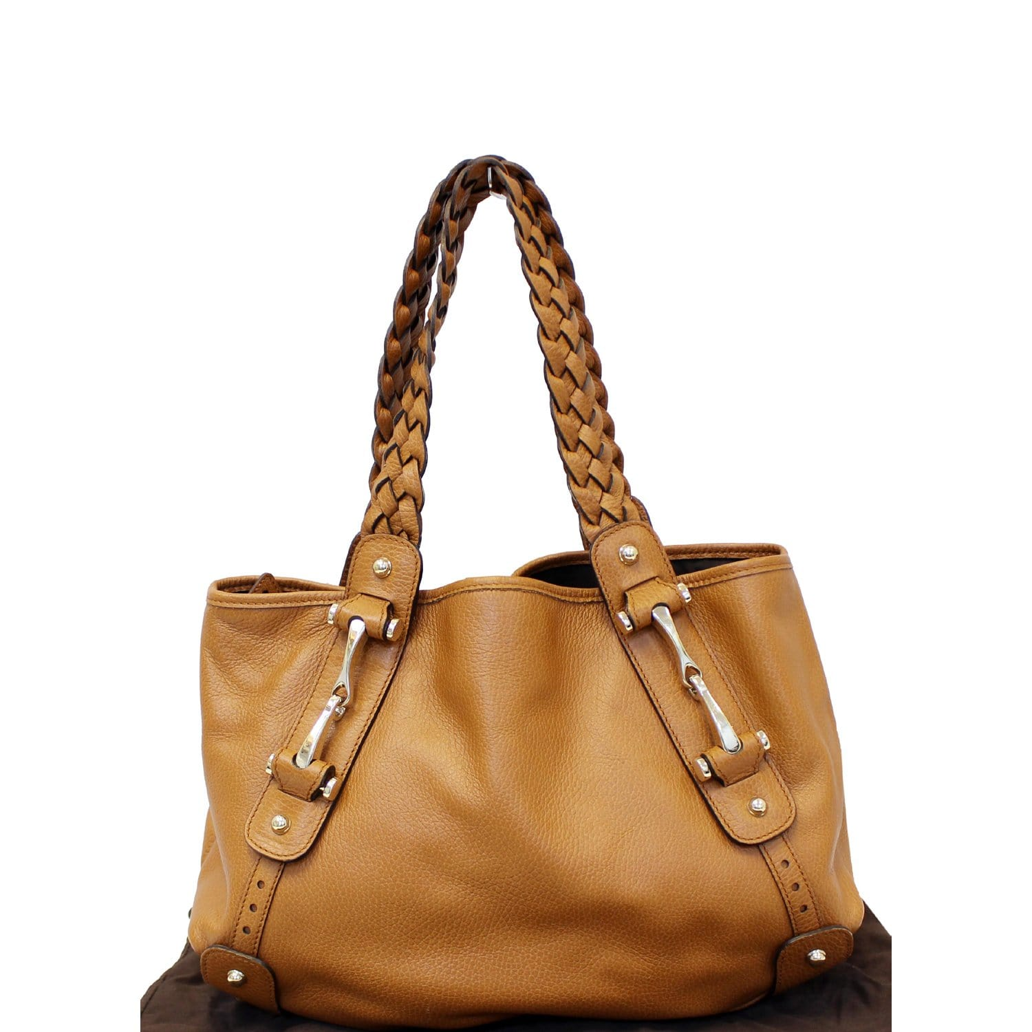 d5a8eb8df GUCCI Pelham Brown Leather Hobo Bag 336654-US