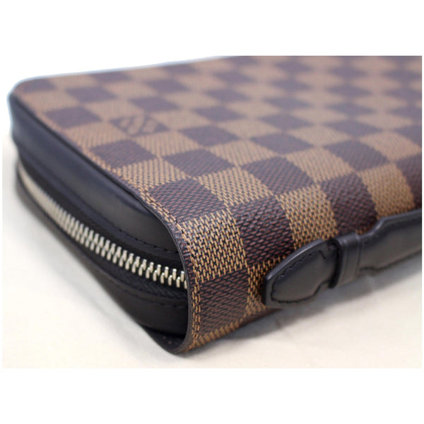 LOUIS VUITTON Zippy XL Damier Ebene Wallet Brown