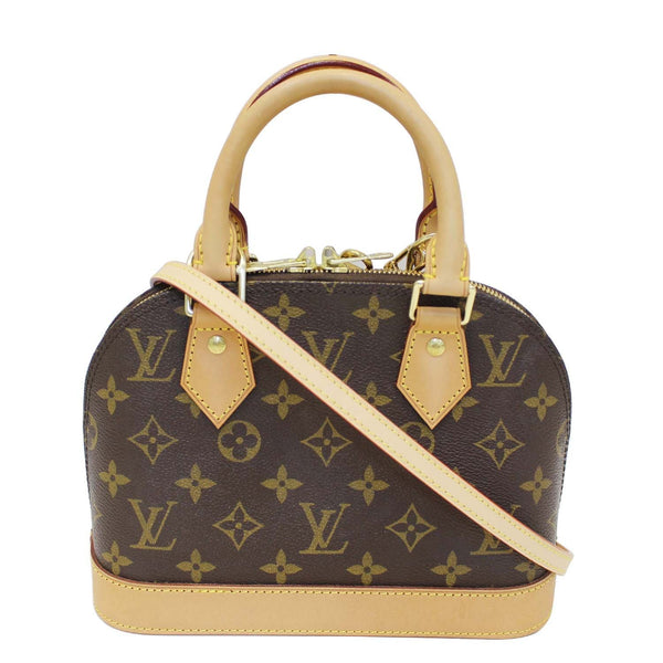 LOUIS VUITTON Alma BB Monogram Canvas Satchel Crossbody Bag-US