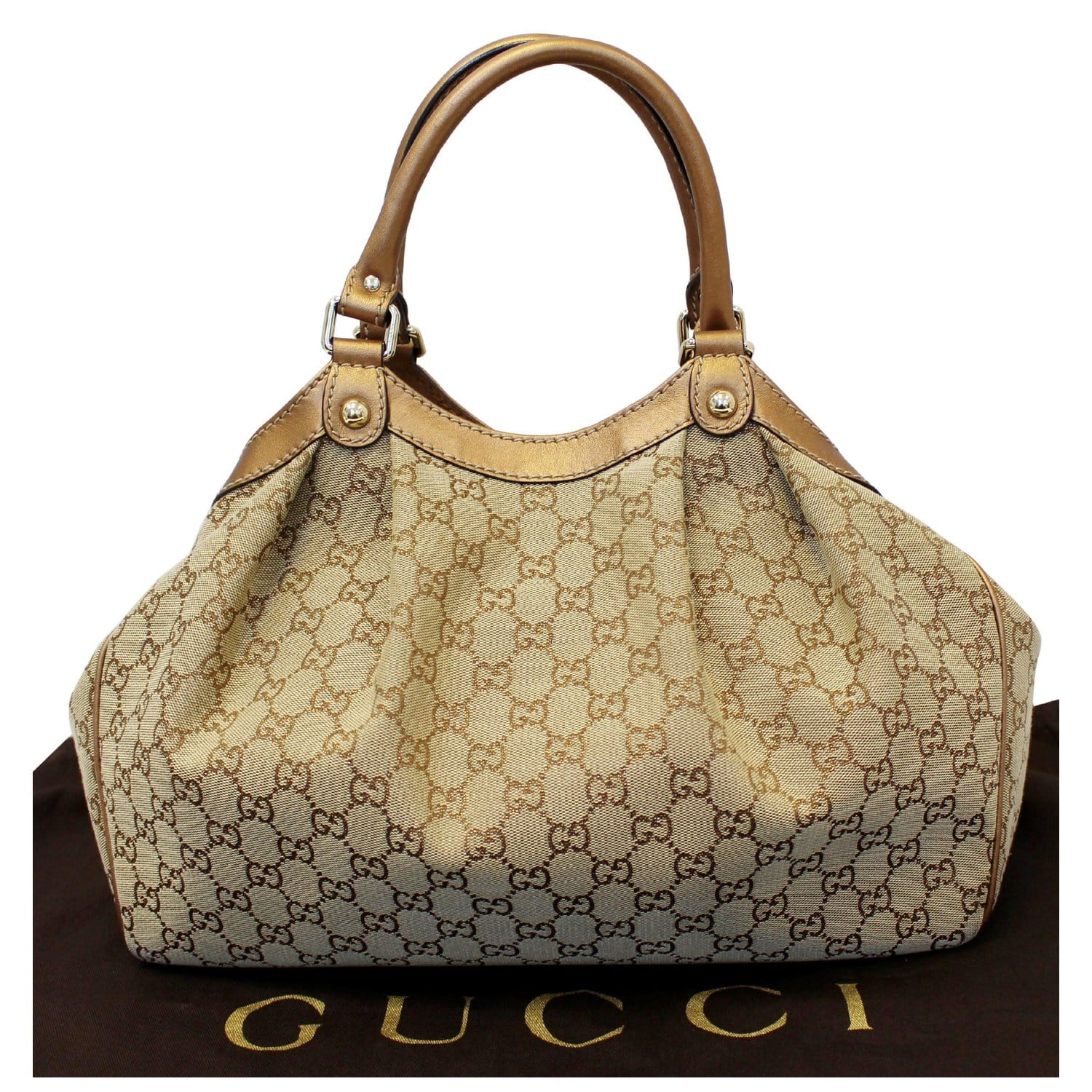 6b30d23fb8ed GUCCI GG Canvas Medium Sukey Tote Bag 211944-US