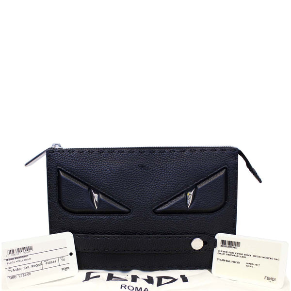 FENDI Selleria Bag Bugs Slim Clutch Black-US
