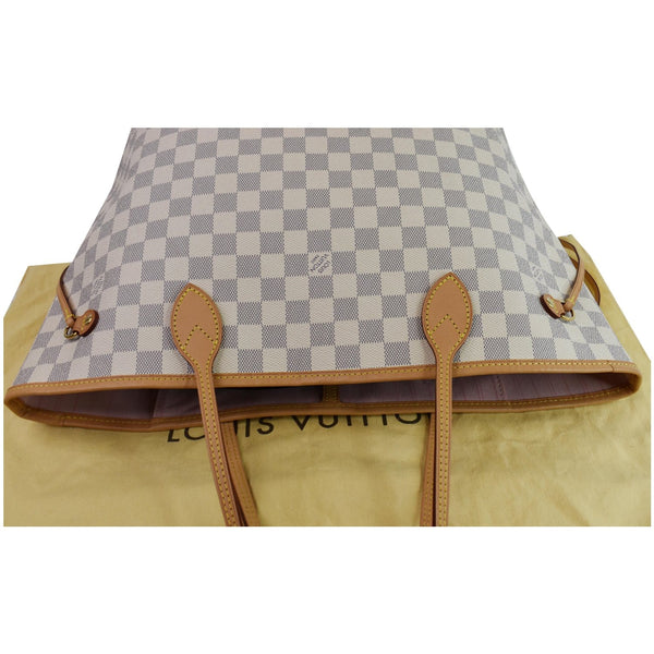 Louis Vuitton Neverfull MM Damier Azur bag upside view