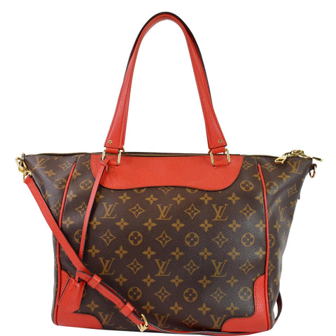LOUIS VUITTON Retiro NM Monogram Canvas 2Way Shoulder Bag Coquelicot