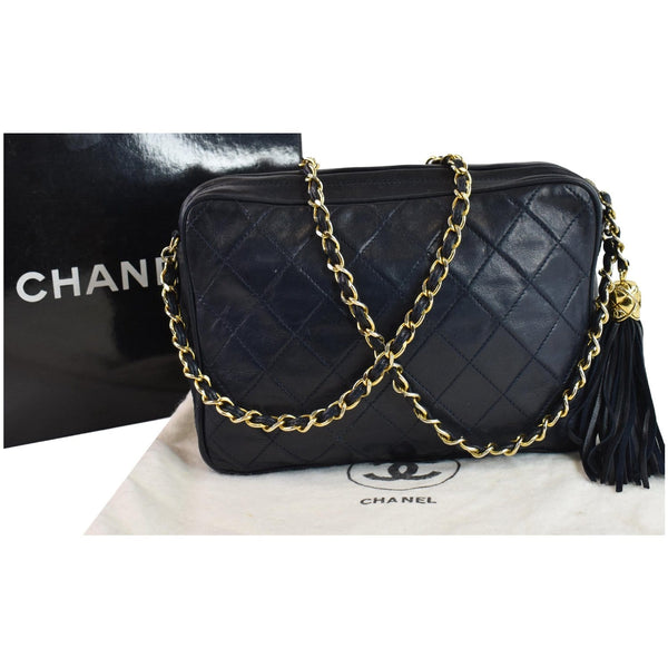 Chanel Front Pocket Quilted Lambskin Leather Chain Bag