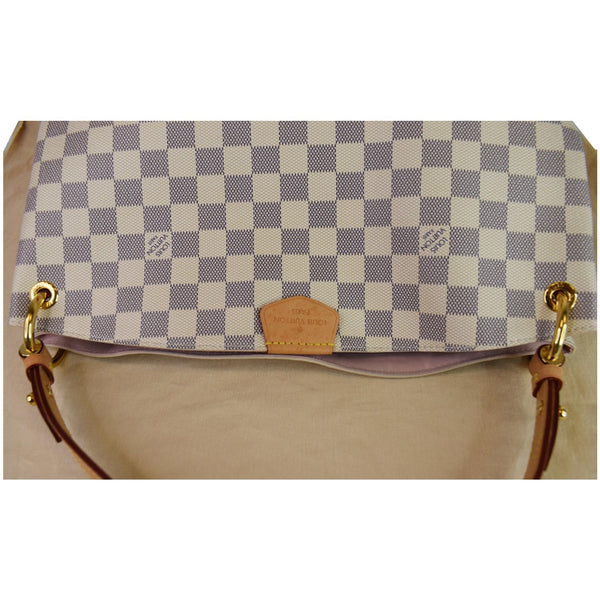 Louis Vuitton Graceful PM Damier Azur Shoulder Bag - top upper look