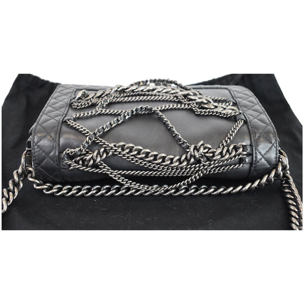 Chanel Boy Enchained Medium Calfskin Leather Flap Bag chain
