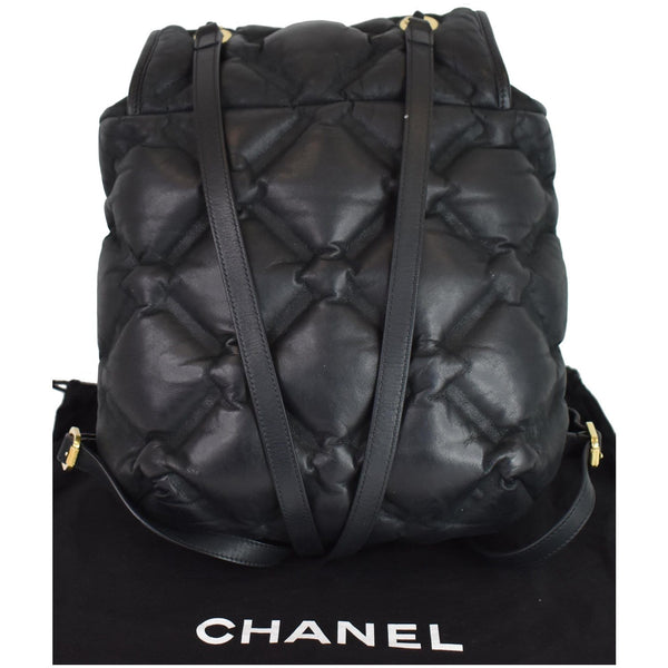 Chanel Chesterfield Quilted Calfskin Shoulder Backpack  backside