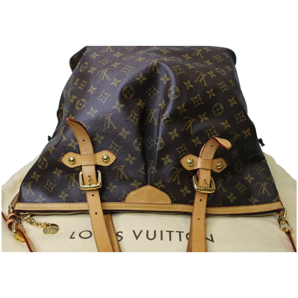 LOUIS VUITTON Palermo GM Monogram Canvas Tote Shoulder Bag Brown