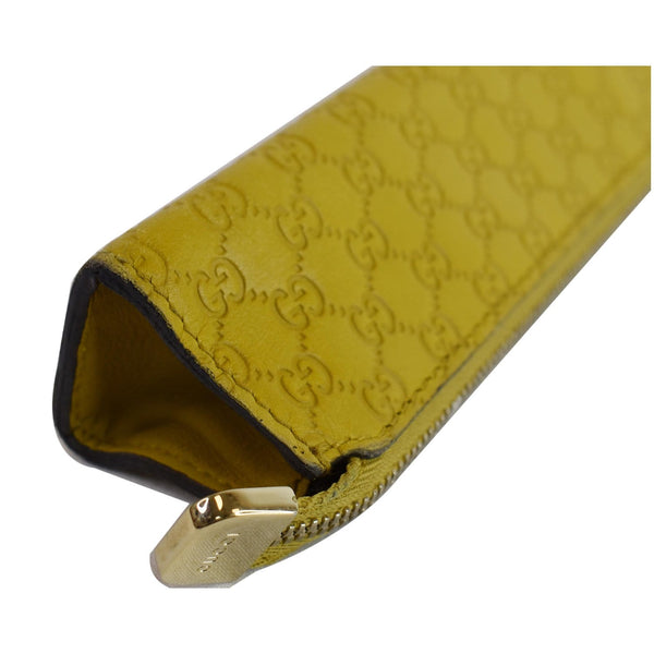 Gucci Microguccissima Pencil Pouch Yellow top opened
