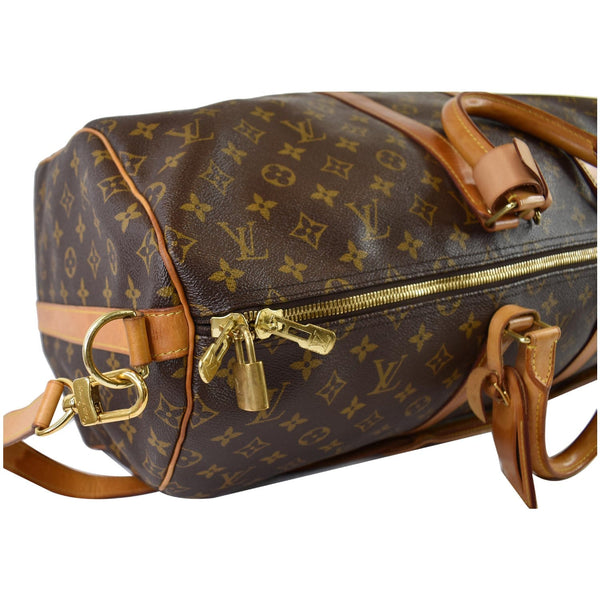 LOUIS VUITTON  Keepall Bandouliere 55 Monogram Canvas Travel Bag Brown