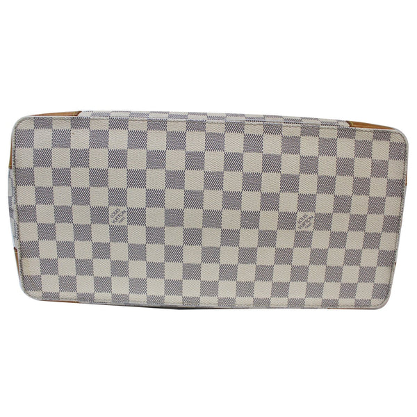 Louis Vuitton Hampstead PM Damier Azur bag white bottom