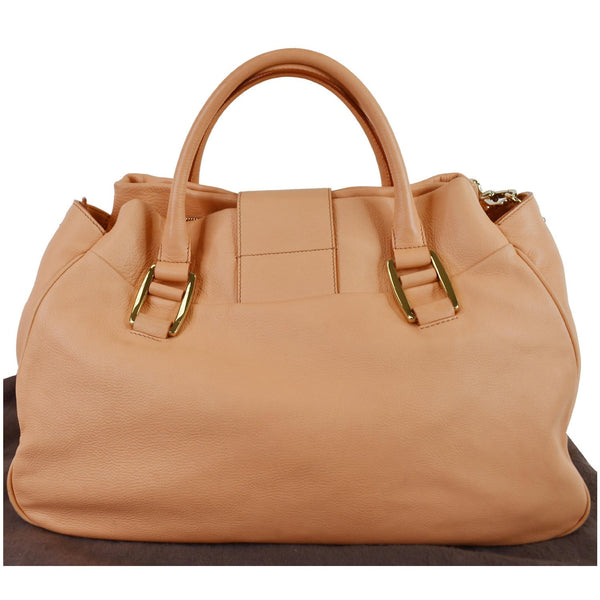 Celine Blossom Leather Top Handle Satchel Peach