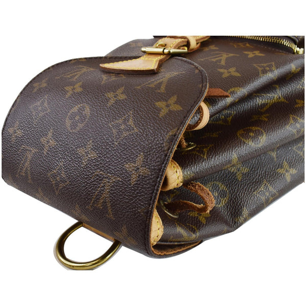 LOUIS VUITTON Montsouris MM Monogram Canvas Backpack Bag Brown