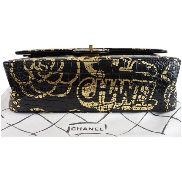 Chanel Reissue 2.55 Crocodile Graffiti Bag bottm