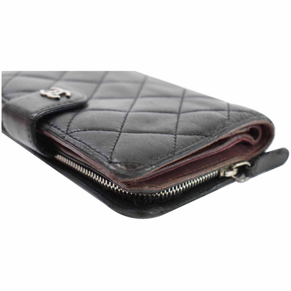 Chanel CC Lambskin Leather Bifold Wallet Women