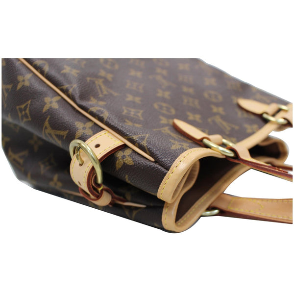 side look lv Batignolles Vertical Monogram Canvas Bag